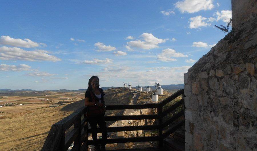 Vista de los molinos desde el castillo