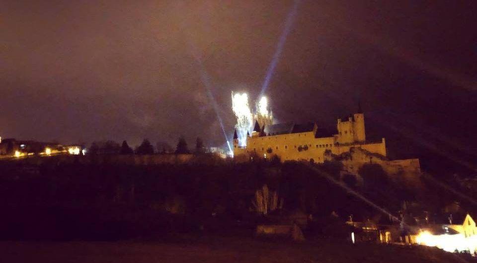 Fireworks in the Alcazar of Segovia