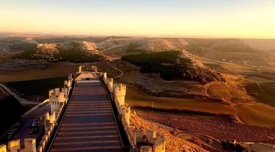 Sunset in Peñafiel Castle