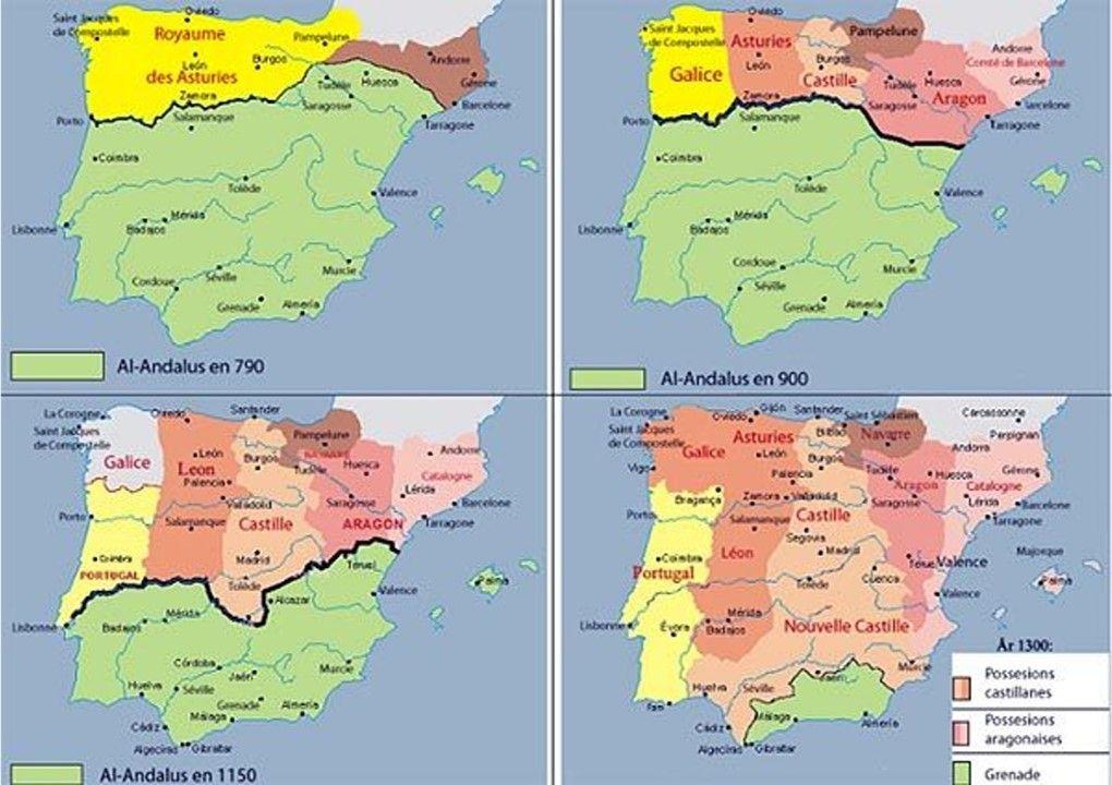 Mapa de España medievo