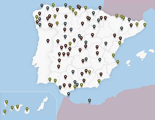 Paradores Nacionales Mapa