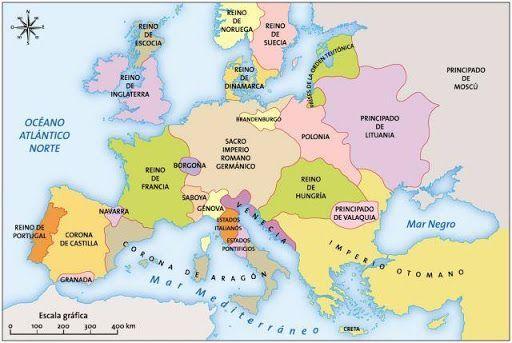 15th century spain map