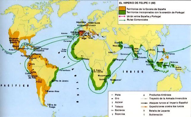 España y Portugal en el siglo XVI.