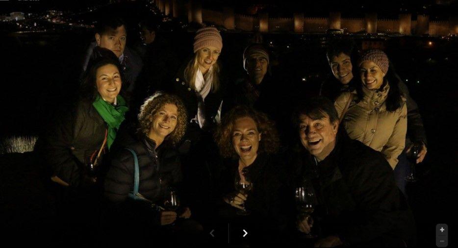 Avila with wine