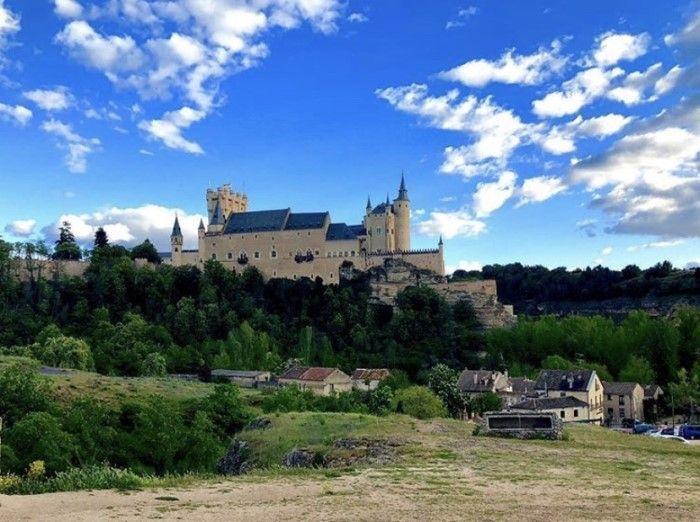Alcazar of Segovia on the day
